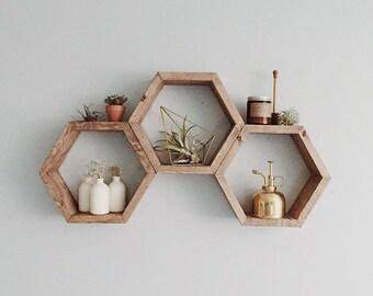Modern Shelf the original stacked triangle shelf. geometric shelf. modern