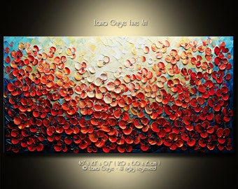 Floral Abstract Original Made-to-Order Painting Modern Textured Palette Knife by Lana Guise