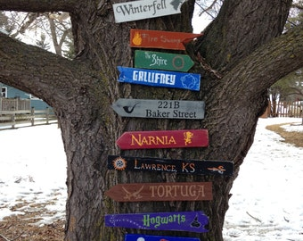 10 Pack Wooden Directional Signs  - Choose any 10 signs listed in our shop