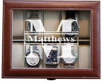 Personalized Valentines Day Gift for Him, Mens Valentines Gifts, Boyfriend Gift, Valentines Day Gift for Men, Watch Storage Box Case