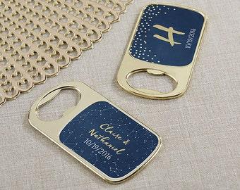 24+ Personalized Gold Metal Bottle Opener, Under The Stars Wedding Favors, Custom Wedding Gold Bottle Opener (11242GD-CN)