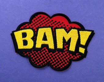 BAM Comic Book Iron-On Patch