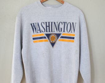 vintage university of WASHINGTON UW oversized heather gray sweatshirt
