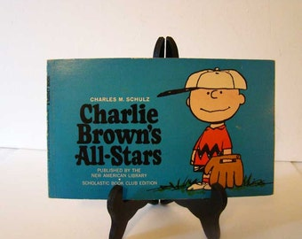 Charlie Brown's All-Stars, vintage Charlie Brown book, Baseball book, Charlie Brown baseball book