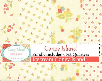 Coney Island Icecream Fat Quarter Bundle by Fig Tree Quilts