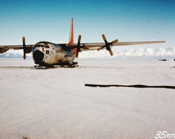 Kodachrome 35mm slide ~ Antarctic Exploration Research Plane ~ US Navy