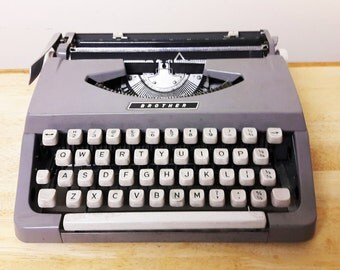Lovely Vintage Brother Portable Typewriter - 1970s