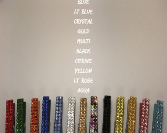 Swarovski crystal bling magnetic photo holders chip clips Choose your colors!