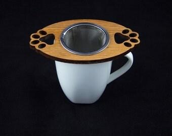 Tea Buddy Dog Paw Print Tea Infuser Gift, Steeper for Loose Leaf Tea, Tea Time, Animal Lover, Tea Lover