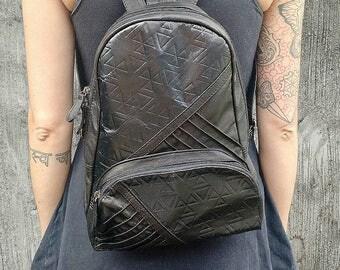 Pressed Leather and Sheep Skin Mini Backpack