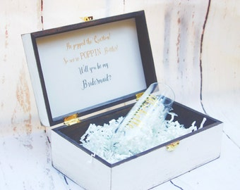 Bridesmaid Gift Will You be my bridesmaid gift box Bridesmaid Gift Champagne Box Bridal Party gift