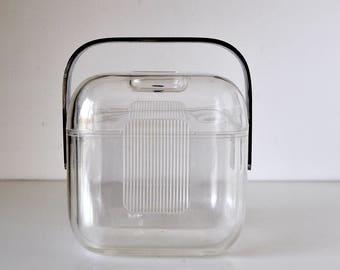 Vintage Guzzini Amanda Acrylic Lucite Ice Bucket Pozzi
