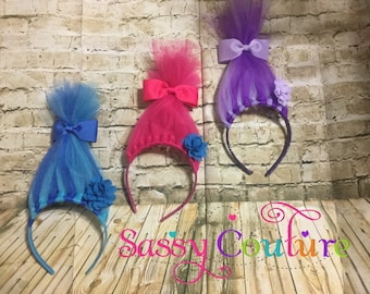 Trolls headbands for child/kids/adults any size/birthday part favors