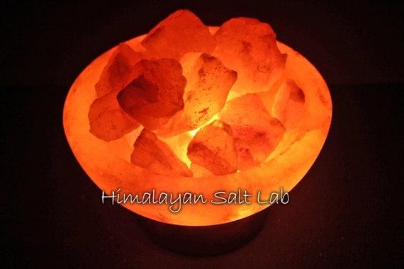 Cauldron Burning Bowl Himalayan salt lamp sculpture fire pit