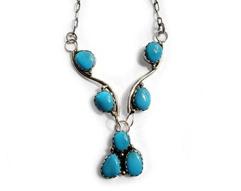 Turquoise Necklace Carlos Sterling Sleeping Beauty