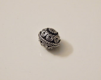 8mm Sterling Silver bali beads 1pcs