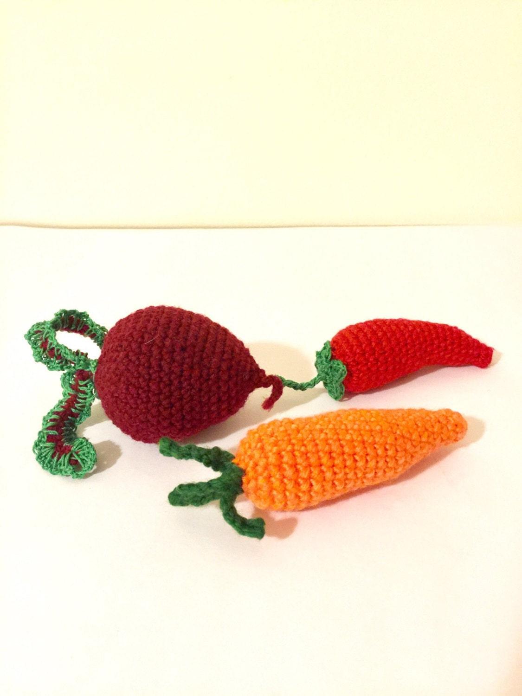 Soft Food Toys : Crochet vegetables food soft toys by janetanyacreative