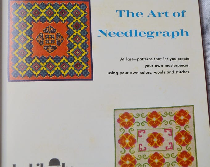 Art of Needlegraph Vintage Book Sylvia Goldman 1974 Needlework Graph Designs Color and Black White Illustrations Photos PanchosPorch