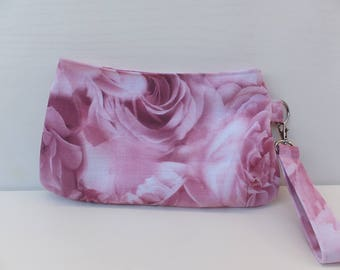 Clutch, Purse, Wristlet Clutch Bag, Handmade, Swoon Coraline