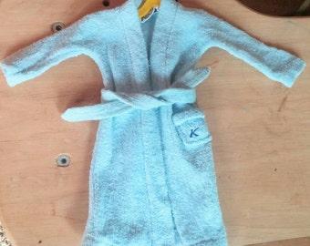 1961 Ken doll bathrobe Terry TOGS 1960's Barbie Ken first clothing line