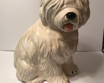Cute vintage ceramic sheepdog