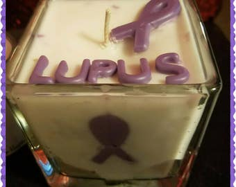 Awareness Lupus Candles