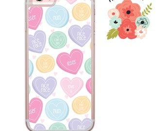 Love Hearts sweets iPhone Samsung Galaxy iPod Touch hard case