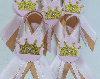 Princess Guest Pins Pink and Gold
