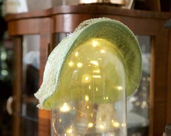 FLASH SALE 1950s seafoam bonnet with net/veil