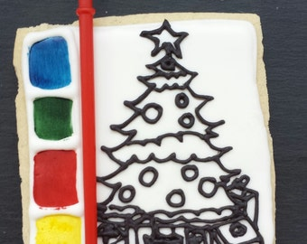 Paint your Own Christmas Cookie / Biscuit - Christmas Tree