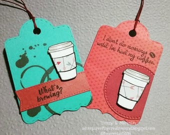 Coffee  ...  Tags... Set of 2