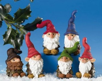 Scandinavian Danish Pinecone Gnomes Box of 6 #6745