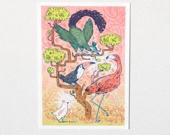 Bad Birds Club Riso Print