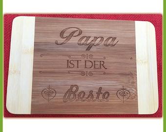 Breakfast Board Papa is the best bamboo