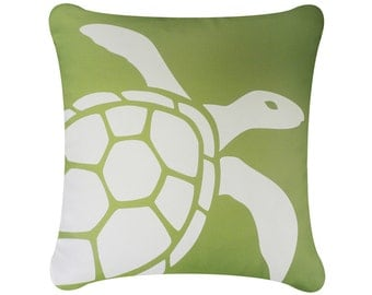 on salesea turtle throw pillow cover coastal pillows beach pillows nautical