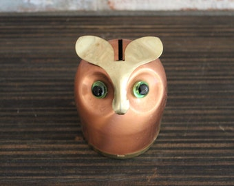 1970s Copper Owl Bank by Coppercraft Guild