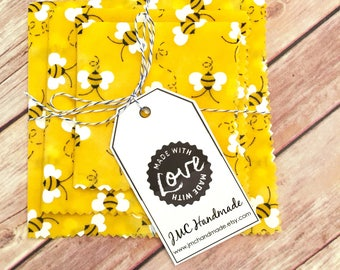 Reusable Food Wrappers - Unplastic Wrap - Beeswax Food Wraps