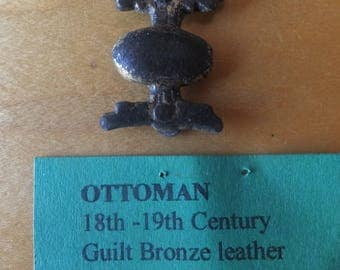Ottoman Empire Bronze Leather Applique