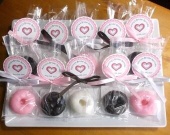 Donut Wedding Favors - Donut Party Favors, Donut Favors, Donut Wedding, Doughnut Wedding, Donut Bridal Shower Favors - Set of 10
