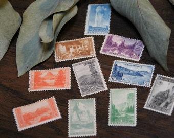 Vintage 1934 National Park Postage Stamp Set