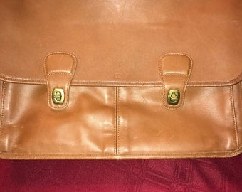 Genuine Brown Leather Coach Briefcase