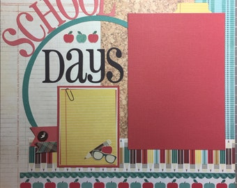 12x12 Premade Pages or DIY Scrapbook Kit - School Days