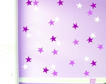 Purple Wall Decals Star Decals Bedroom Wall Decor Vinyl Decals Wall Decal