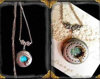 Moon Goddess~ Glow in the Dark locket in aged silver finish Pagan, Wiccan, Spiritual, Ren  Faire, Victorian, Gothic