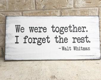 Walt Whitman Quote VINYL STENCIL ONLY