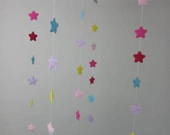 colorful felt star baby mobile Nursery decoration ,Nature Mobile,Baby Mobile Hanging,Crib Mobile 002