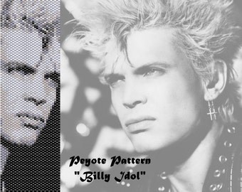 Peyote pattern  for bracelet cuff  Billy Idol