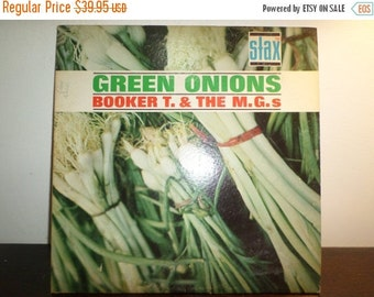 Save 30% Today Vintage 1962 Vinyl LP Record Green Onions Booker T & The M.G.s Good Plus Condition 8996