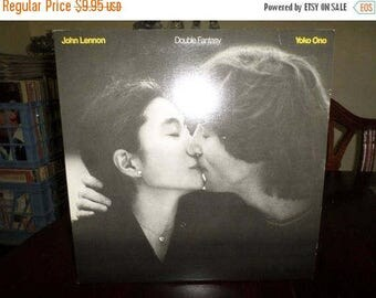 Save 30% Today Vintage 1981 Vinyl  LP Record Double Fantasy John Lennon Yoko Ono Excellent Condition Geffen Records 6721