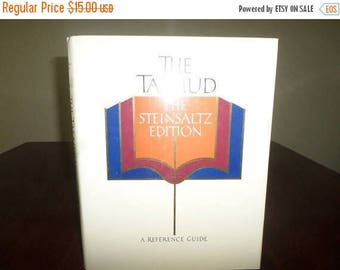 Save 25% Now Vintage 1989 Hardcover Book The Talmud The Steinsalz Edition A Reference Guide Rabbi Adin Steinsaltz